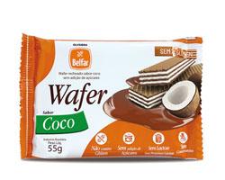 Wafer Belfar sabor coco – sem adição de açúcares