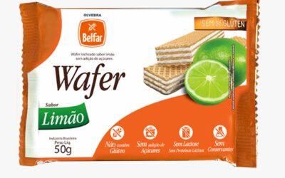 Wafer Belfar sabor limão